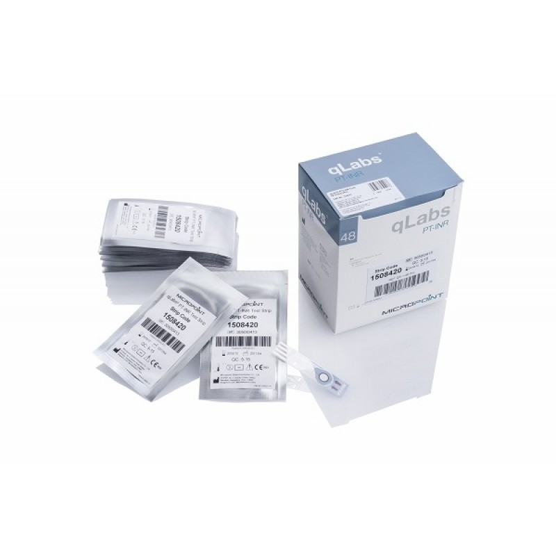 qLabs® PTZ-INR test a striscia 48 test a striscia (professional use only)