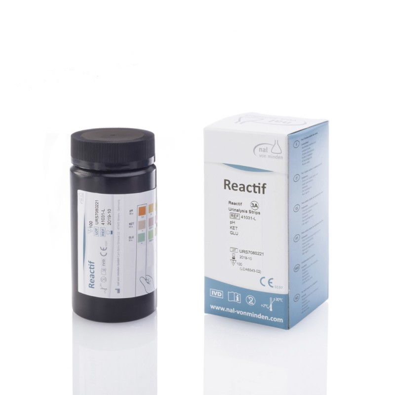 Reactif 3A urinanalysremsor 100 test